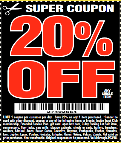 20 percent off coupon