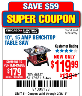 Porter cable 10 15 amp table saw gallery wiring table and diagram harbor freight tools coupon database free coupons 25 percent off 10 15 amp benchtop table saw keyboard keysfo Images