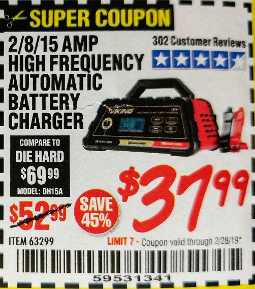 www.hfqpdb.com - 2/8/15 AMP FULLY AUTOMATIC BATTERY CHARGER Lot No. 63299