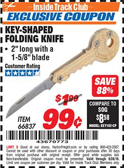 www.hfqpdb.com - KEY-SHAPED FOLDING KNIFE Lot No. 66837