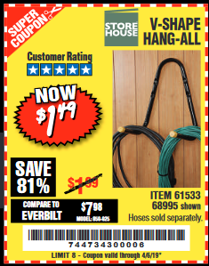 Harbor Freight V-SHAPE HANG-ALL coupon