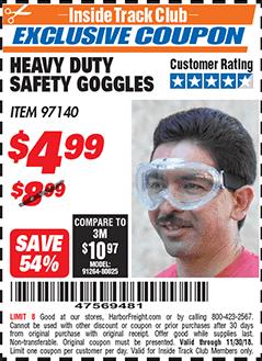 www.hfqpdb.com - HEAVY DUTY SAFETY GOGGLES Lot No. 97140