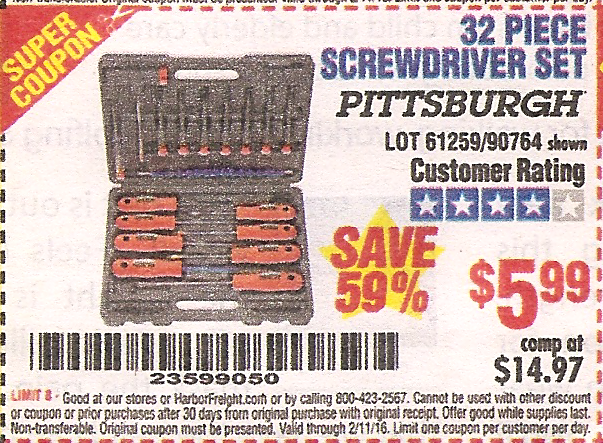 harbor freight tools coupon database free coupons 25 percent off coupons toolbox coupons. Black Bedroom Furniture Sets. Home Design Ideas