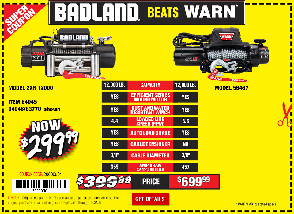 Badlands offroad coupons