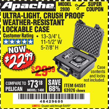 www.hfqpdb.com - APACHE 2800 CASE Lot No. 63926/64551