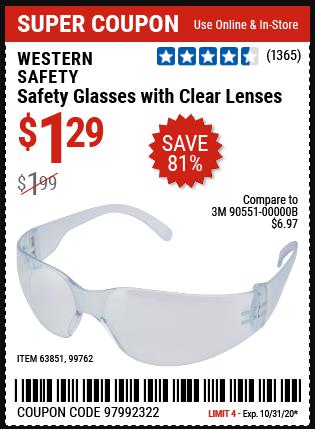 www.hfqpdb.com - CLEAR LENS SAFETY GLASSES Lot No. 63851/99762