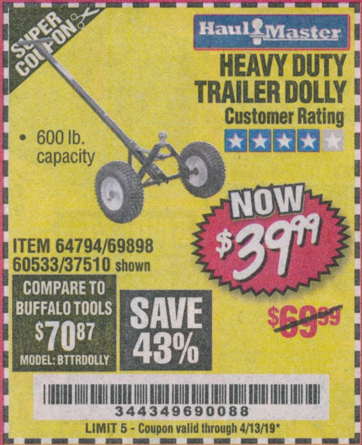 www.hfqpdb.com - HEAVY DUTY TRAILER DOLLY Lot No. 69898/37510/60533