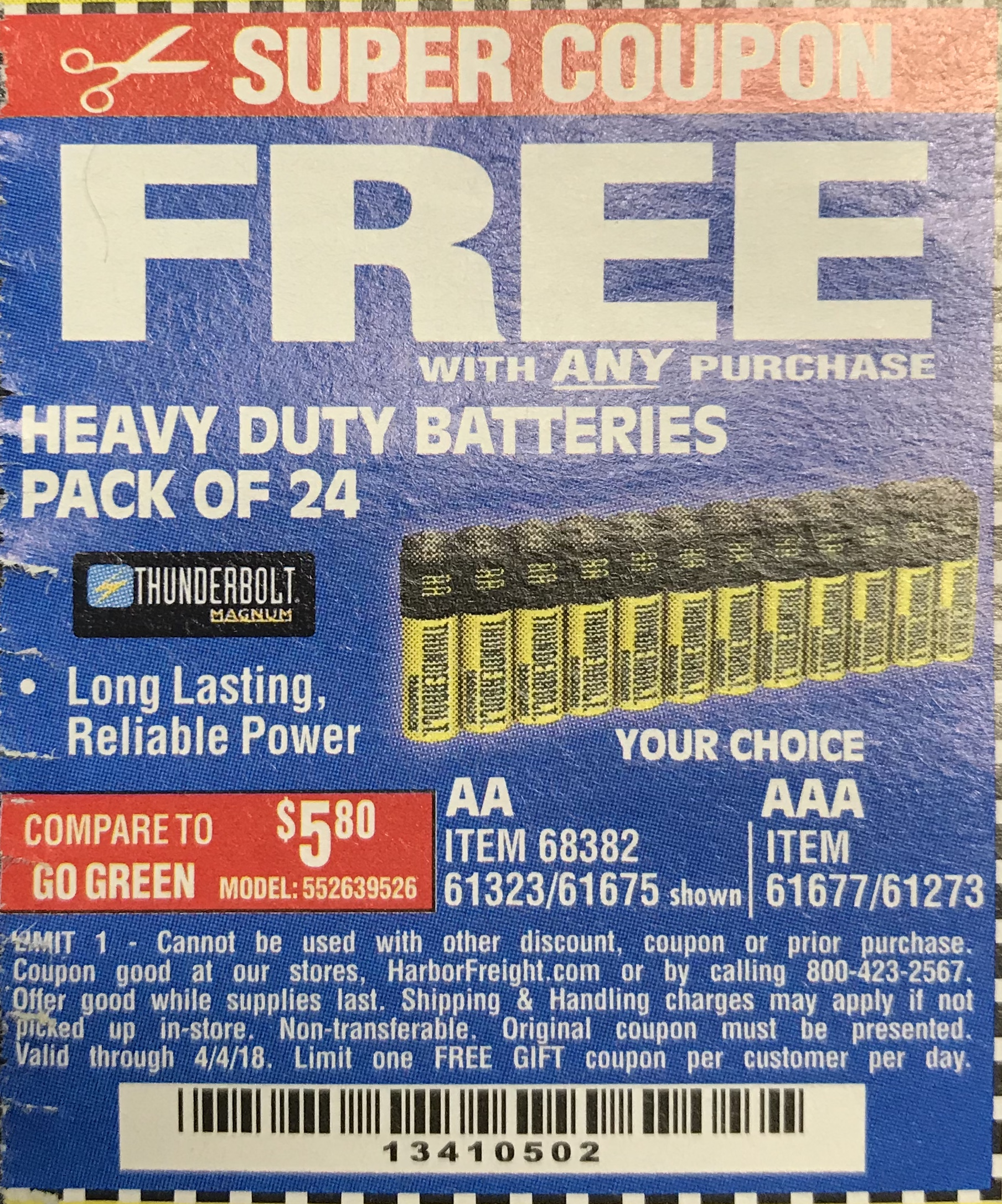 Automotive battery discount coupons