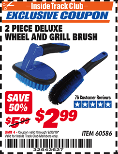 www.hfqpdb.com - 2 PIECE DELUXE WHEEL AND GRILL BRUSH Lot No. 60586