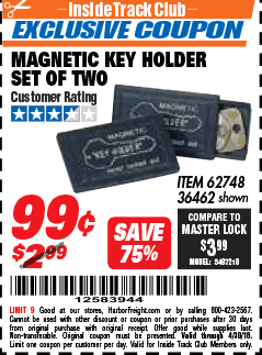 MAGNETIC KEY HOLDER SET OF TWO Lot No. 62748/36462