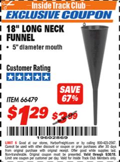 "www.hfqpdb.com - 18"" LONG NECK BLACK FUNNEL Lot No. 66479"