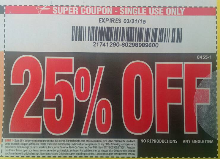 Garage coupon code