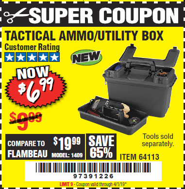 www.hfqpdb.com - TACTICAL AMMO BOX W/TRAY Lot No. 64113