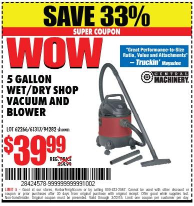 Coupon vacuum store