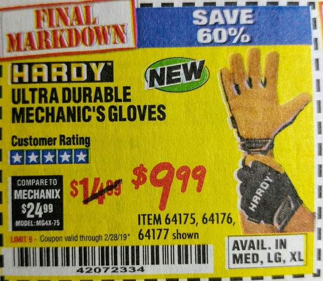 www.hfqpdb.com - ULTRA DURABLE MECHANIC'S GLOVES Lot No. 64175/64176/64177