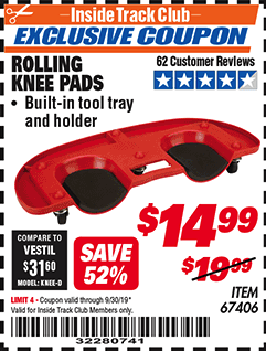 Harbor Freight ROLLING KNEE PADS coupon