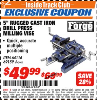 www.hfqpdb.com - 5: RUGGED CAST IRON DRILL PRESS MILLING VICE Lot No. 64416 69159