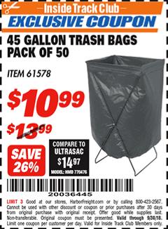 www.hfqpdb.com - 45 GALLON TRASH BAGS PACK OF 50 Lot No. 61578