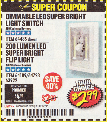www.hfqpdb.com - DIMMABLE LED SUPER BRIGHT LIGHT SWITCH Lot No. 64485