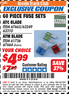 www.hfqpdb.com - 60 PIECE FUSE SETS ATC BLADE ATM BLADE Lot No. 67665 63249 63310 61736 67664