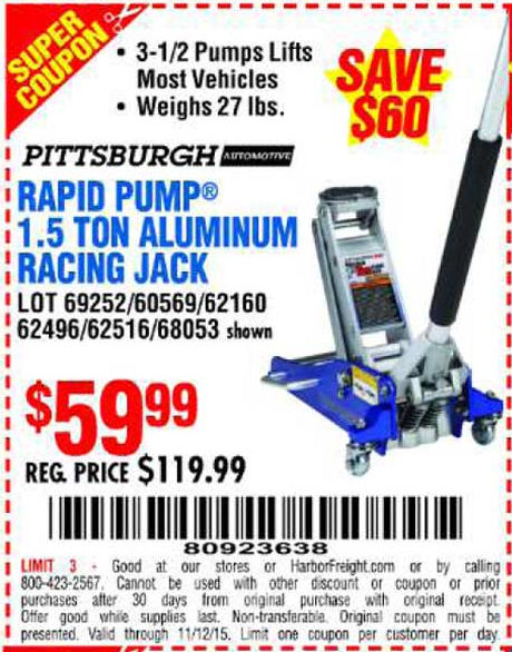 Harbor freight aluminum jack coupon 2018 zo skin care for American frame coupon code
