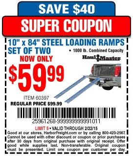 Discount ramps coupon