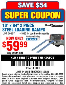 Discount ramps coupons