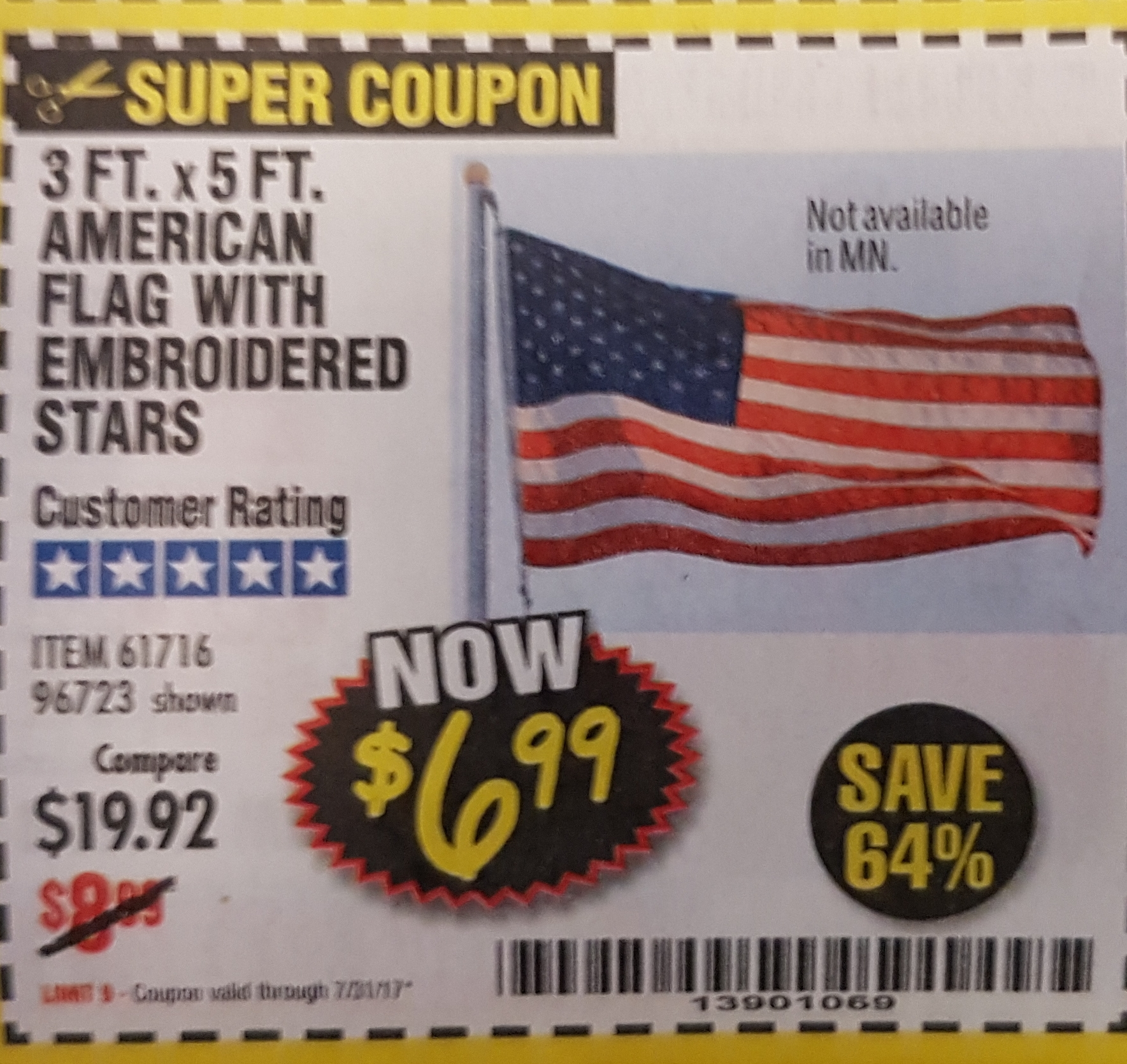 Discount flag outlet coupons