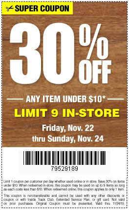 Harbor Freight 30 percent off coupon