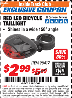 www.hfqpdb.com - RED LED BICYCLE TAIL LIGHT Lot No. 98417