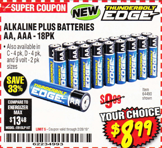 www.hfqpdb.com - ALKALINE BATTERIES Lot No. 64490