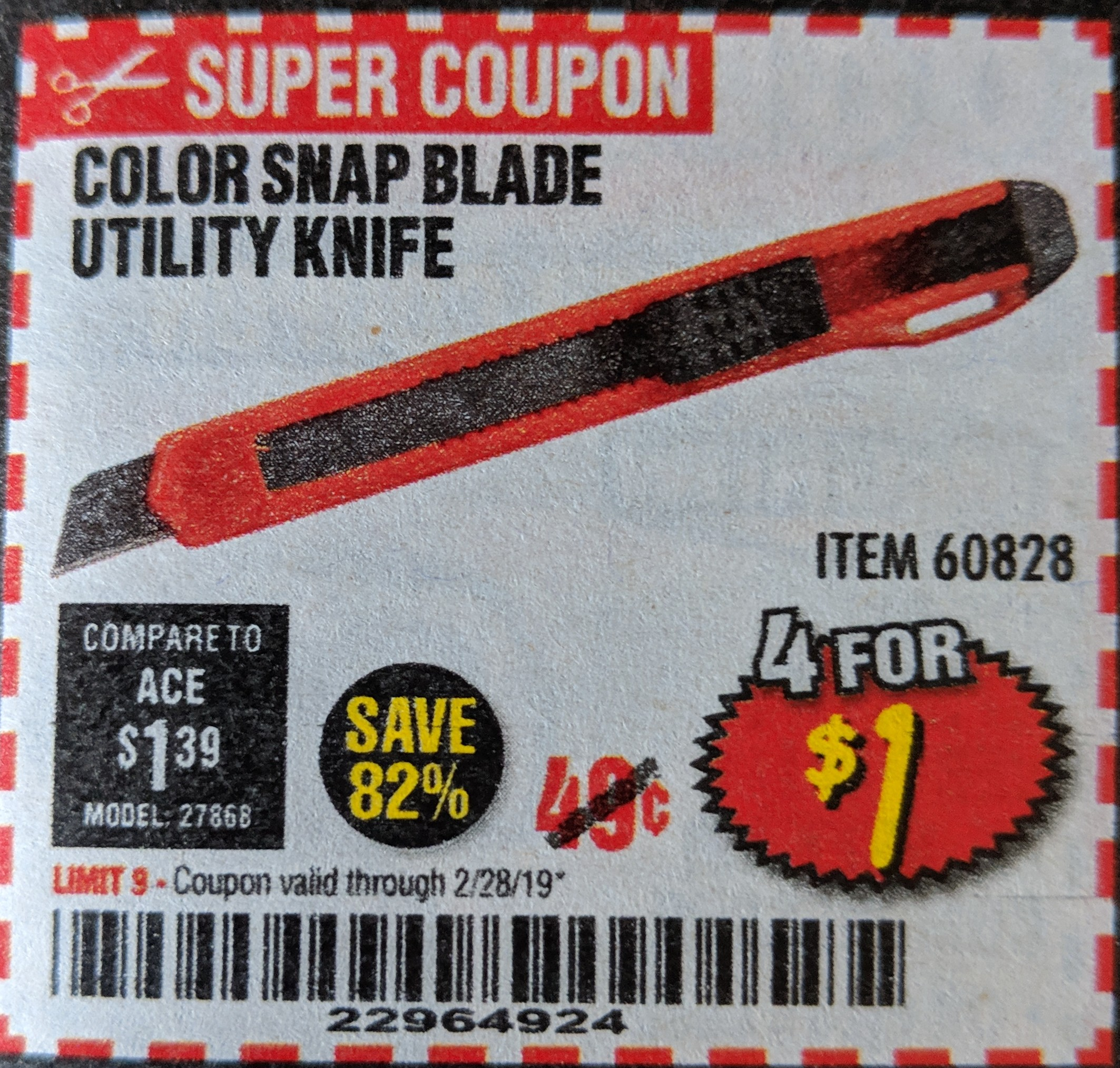 www.hfqpdb.com - COLOR SNAP BLADE UTILITY KNIFE Lot No. 60828