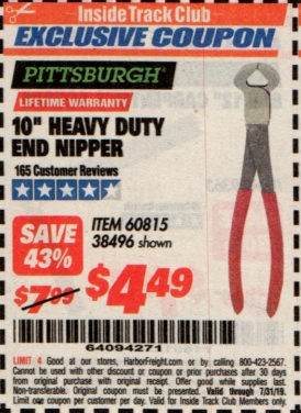 "www.hfqpdb.com - 10"" HEAVY DUTY END NIPPER Lot No. 60815/38496"
