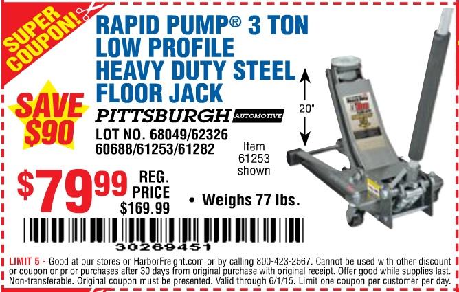 Harbor freight 4 ton floor jack coupon