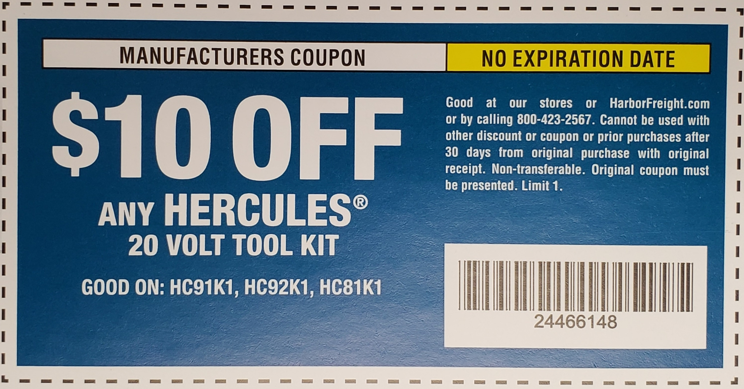 www.hfqpdb.com - HERCULES 20V TOOL KIT Lot No. HC91K1