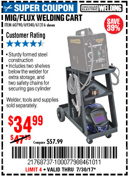 Harbor Freight MIG-FLUX WELDING CART coupon