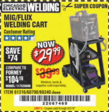 www.hfqpdb.com - MIG-FLUX WELDING CART Lot No. 69340/60790/90305/61316