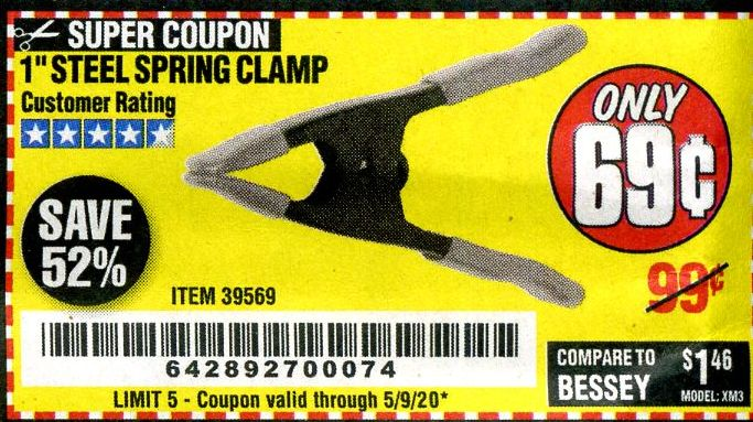 "www.hfqpdb.com - 1"" STEEL SPRING CLAMP Lot No. 39569"