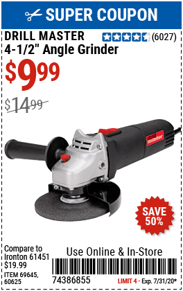 Harbor Freight 4 1/2