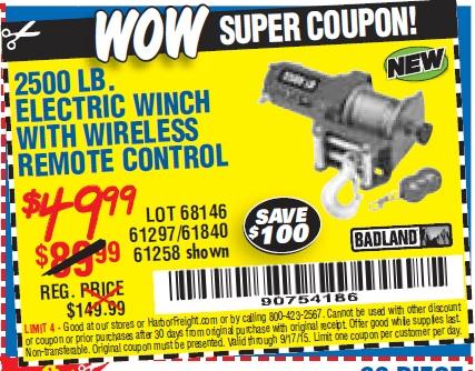 Harbor freight winch coupon 49 99 / Vinyl fencing deals