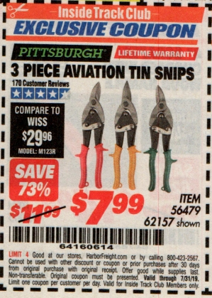 www.hfqpdb.com - 3 PIECE AVIATION TIN SNIP SET Lot No. 69000/62157