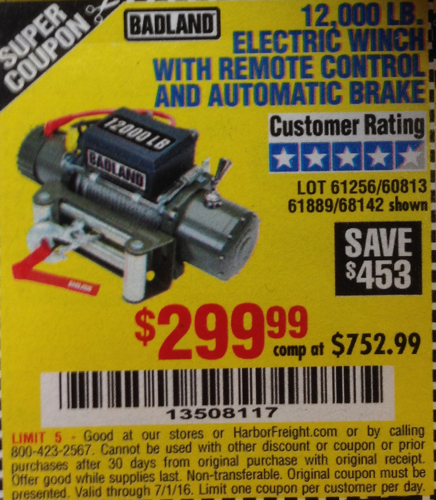 Harbor Freight Winch Coupon 12000 Omega Sports Printable Badland Wiring Diagram Im Pretty Sure You Can Print Out A 20 Off And Buy It