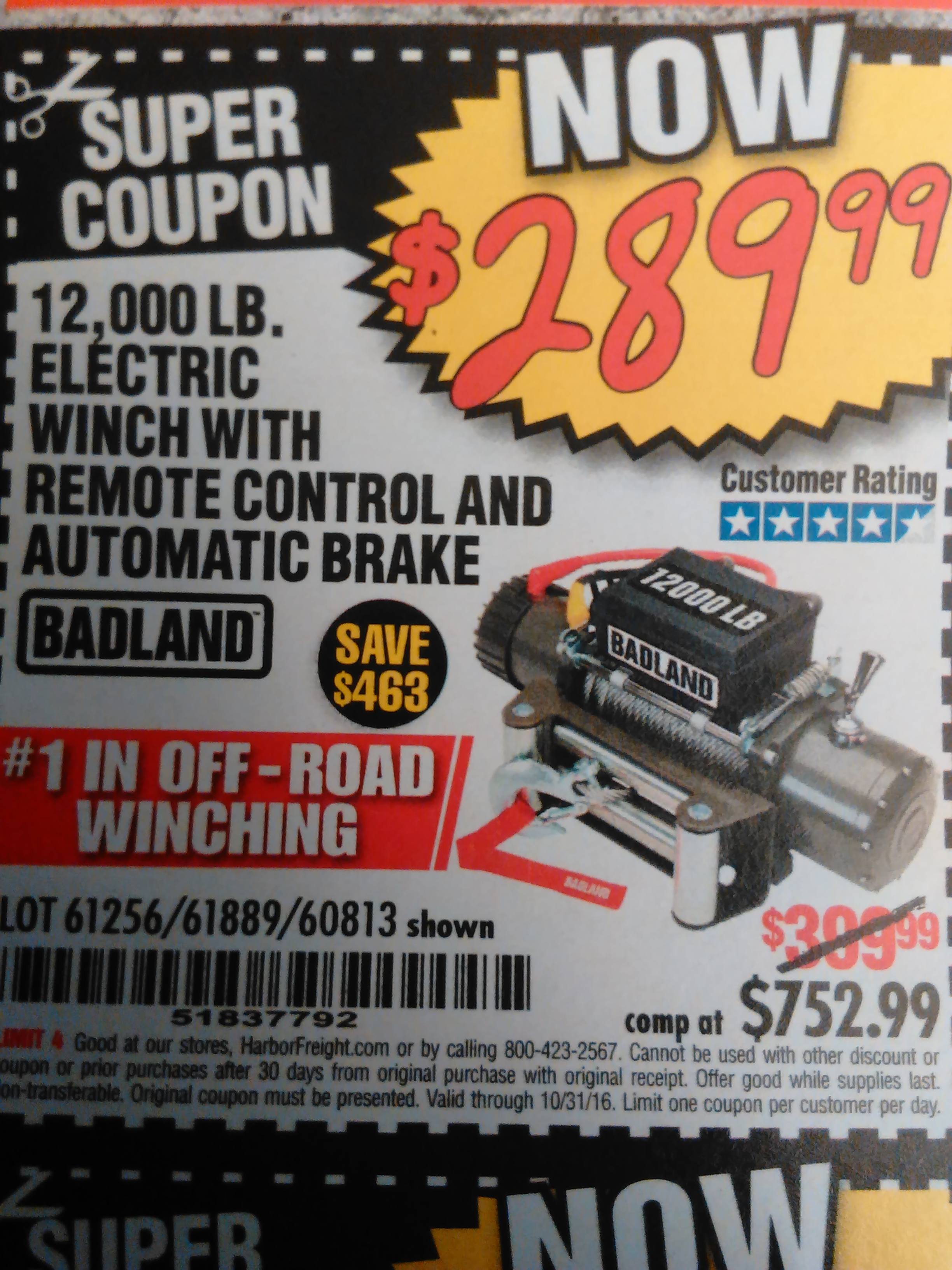 Harbor Freight Winch Coupon 12000 Omega Sports Printable Badland Wiring Diagram Lb Off Road Vehicle Electric W