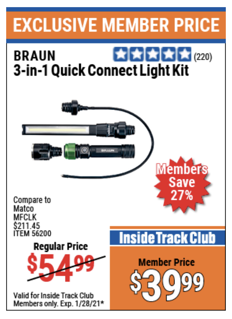 www.hfqpdb.com - BRAUN 3-IN-1 QUICK CONNECT LIGHT KIT Lot No. 56200