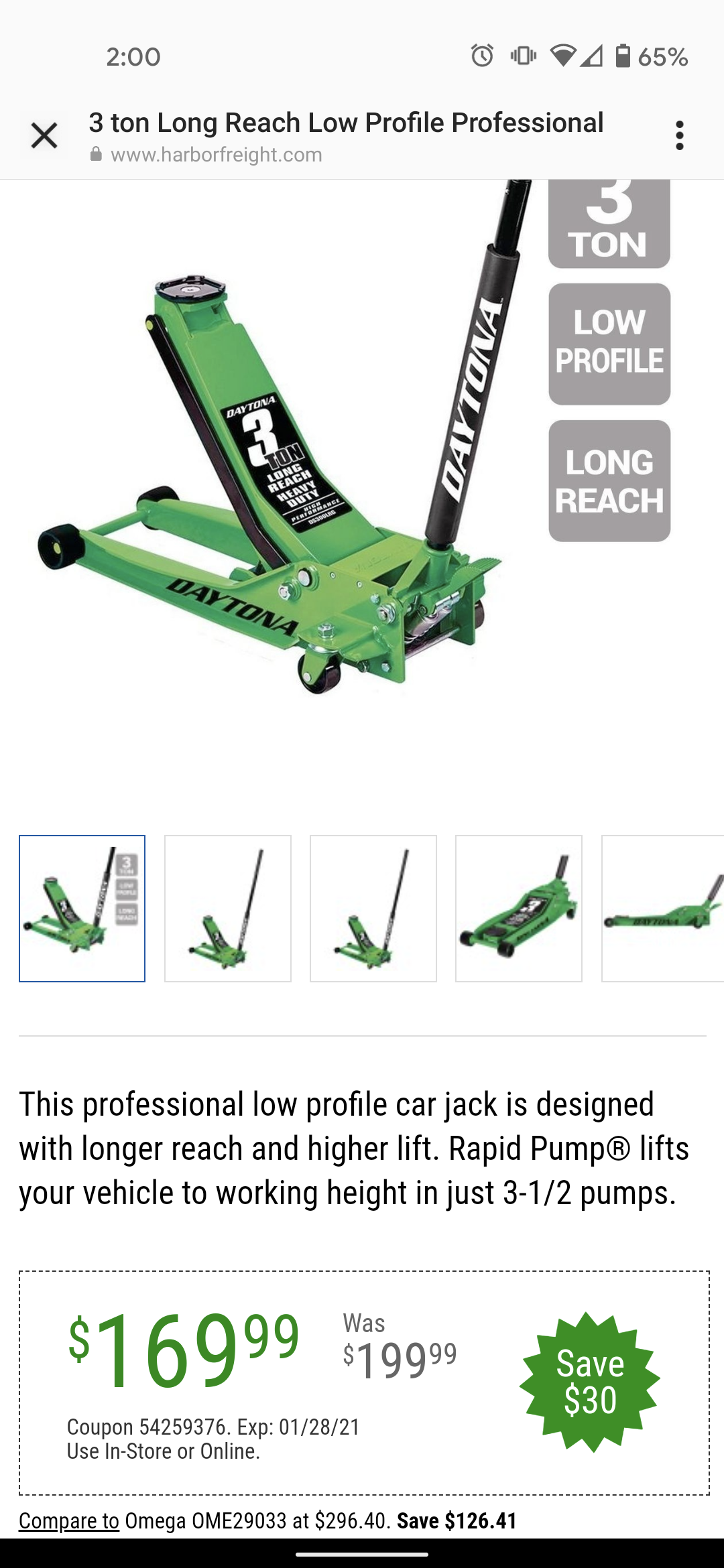 www.hfqpdb.com - 3 TON LONG REACH LOW PROFILE PROFESSIONAL RAPID PUMP FLOOR JACKS Lot No. 64781/64241/56641/64785