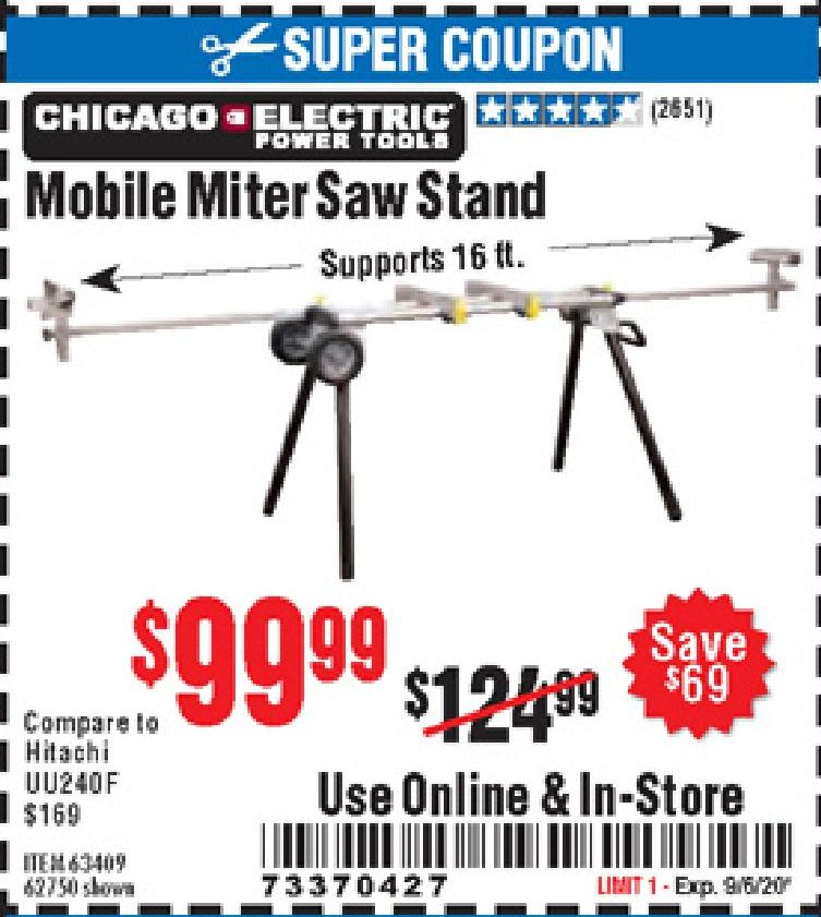 Harbor Freight MOBILE MITER SAW STAND coupon