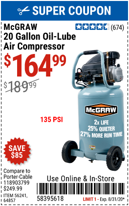 Harbor Freight MCGRAW  coupon