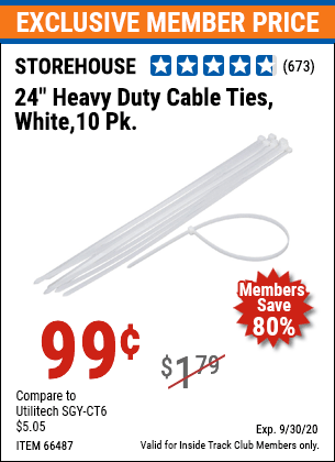 www.hfqpdb.com - 24 IN. HEAVY DUTY CABLE TIES 10 PK. Lot No. 66487
