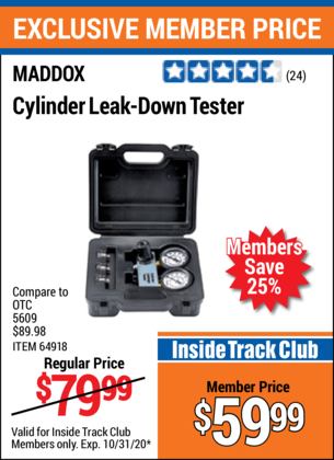 Harbor Freight MADDOX CYLINDER LEAK-DOWN TESTER coupon
