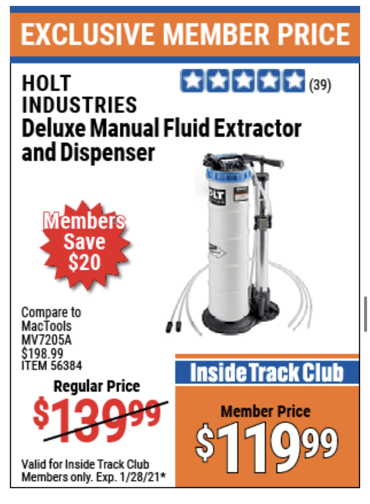 www.hfqpdb.com - HOLT DELUXE MANUAL FLUID EXTRACTOR AND DISPENSER Lot No. 56384